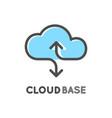 cloud database logo isolated logotype data vector image