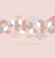 elegant geometric mosaic horizontal pattern vector image vector image