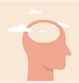empty head icon stupid foolish and vector image