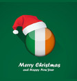 flag of ireland merry christmas and happy new vector image