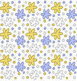 floral element yellow blue pattern design vector image