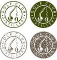 golf club distillery concept labels with broken vector image vector image