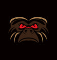 gorilla sport logo vector image vector image