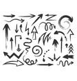 grunge arrow rough textured zig zag arrows and vector image