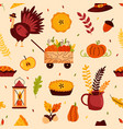 holiday seamless pattern for thanksgiving day vector image vector image
