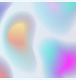 holographic abstract background in pastel colors vector image vector image