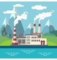 Industrial factory flat ecology concept vector image vector image