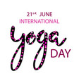 international day of yoga concept vector image vector image