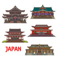 japanese landmarks buddhist temples and shrines vector image vector image