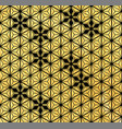 japanese pattern with gold texture geometric vector image