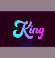 king pink word text logo icon design for vector image vector image