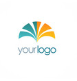 loop color business logo vector image