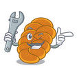 mechanic challah mascot cartoon style vector image vector image