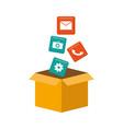 mobile app development vector image