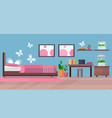 modern apartment bedroom interior with home vector image