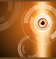 orange background with eye vector image vector image