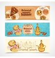 Oriental sweets banners vector image vector image
