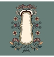 Ornate vintage background vector image vector image
