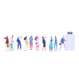 people in queue men and women in casual clothes vector image vector image