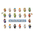 People occupations icons - set of Isometric man vector image vector image