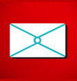 postal envelope icon vector image