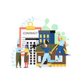 property concept flat style design vector image