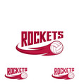 rocket volleyball logo for the team and the cup vector image vector image