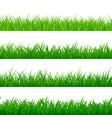 seamless gorisontal grass border green herbal vector image vector image