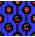 seamless pattern with cherries in circles vector image vector image