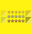 set customer feedback 5 star rating vector image vector image