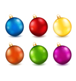 Set of color Christmas balls vector image vector image