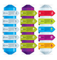 set of different color infographic compositions vector image