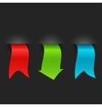 set promotional colored ribbons and labels vector image vector image