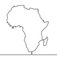 single continuous line art map of africa vector image