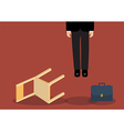 Situation of hanged businessman vector image vector image