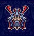 skull samurai mask esport logo template with vector image vector image