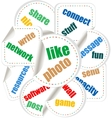 Social Media Word and Icon Cloud vector image vector image