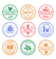 spices and herbs stamps vector image vector image