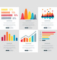 statistic set of web page designs vector image vector image