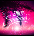 summer background with palm leaves vector image