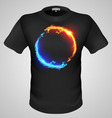 T shirts Black Fire Print man 10