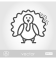Turkey outline icon Harvest Thanksgiving vector image vector image