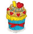 valentine day cupcake vector image