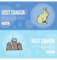 Visit Canada Touristic Web Banners vector image vector image