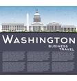 Washington DC Skyline with Gray Buildings vector image vector image
