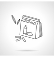Baby cereal flat line design icon vector image