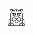 cute tiger icon on white background vector image