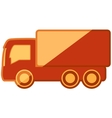 isolated truck on flat design vector image