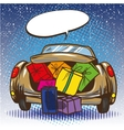 car trunk with gifts pop vector image