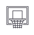 basketball hoop flat line concept vector image